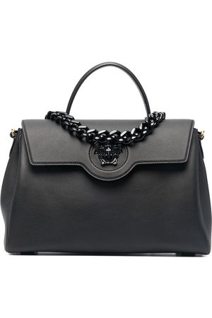 Versace Large chain handle tote bag