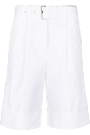 Peserico Belted knee-length shorts