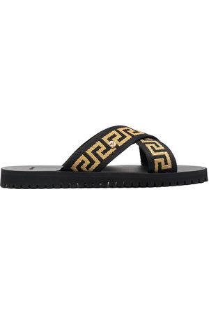 VERSACE Herren Sandalen - Greca-motif crossover-strap sandals