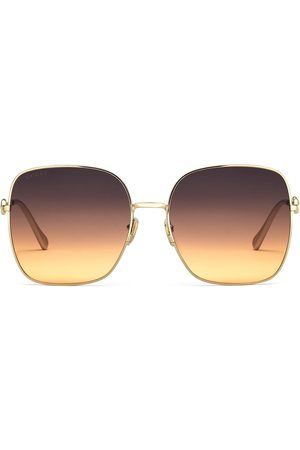 Gucci Horsebit detail square-frame sunglasses
