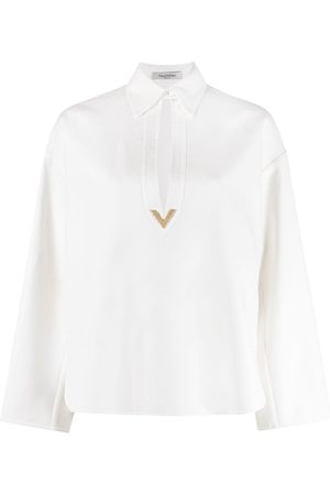 Valentino Cut-out neck blouse