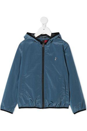 Herno Kids Crepe de chine hooded jacket