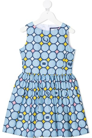 Simonetta Mädchen Bedruckte Kleider - Geometric-print empire-line sleeveless dress