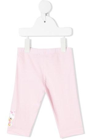 MONNALISA Baby Leggings & Treggings - Floral-embroidered leggings