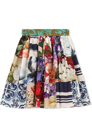 Dolce & Gabbana Kids Multi-print flared skirt
