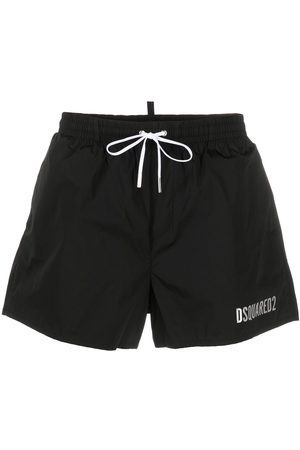 Dsquared2 Metallic-logo swim shorts