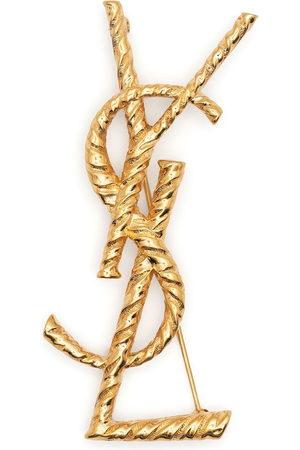 Saint Laurent Damen Armbänder - YSL logo brooch