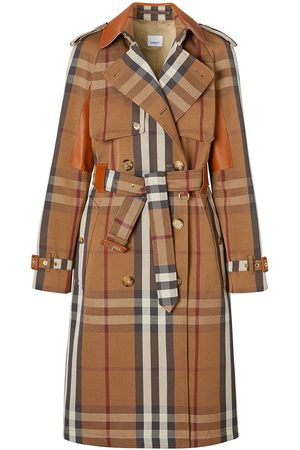 Burberry Belted check trench coat