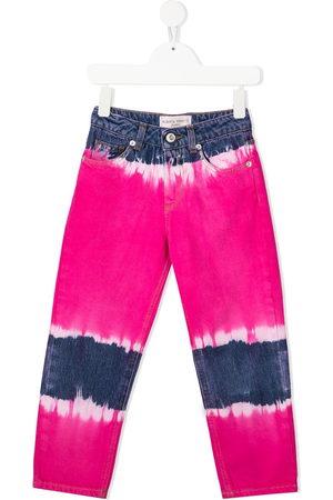 Alberta Ferretti Kids Tie-dye straight leg jeans