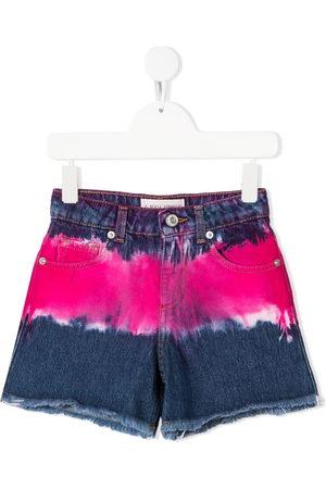Alberta Ferretti Kids Tie-dye denim shorts