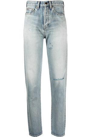 Saint Laurent High-waist ripped jeans