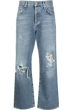 Citizens of Humanity Damen High Waisted - Distressed-effect mid-rise cropped jeans