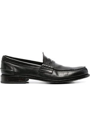 Premiata Herren Halbschuhe - Crossover-strap leather loafers