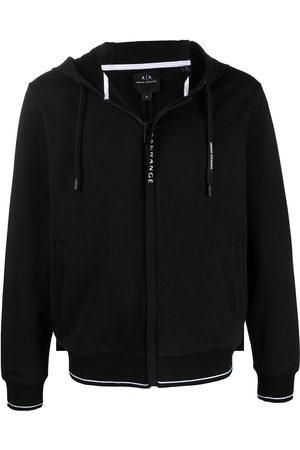 Armani Exchange Logo-print zip-up hoodie