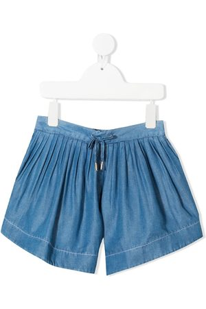 Chloé Kids Mädchen Shorts - Drawstring denim shorts