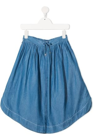 Chloé Mädchen Weite Hosen - Chambray wide-leg culottes