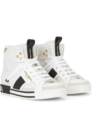 Dolce & Gabbana Kids Logo-embossed lace-up sneakers
