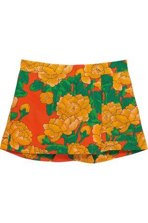 Mini Rodini Mädchen Shorts - Shorts Peonies aus Baumwolle