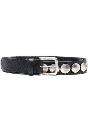 Golden Goose Studded buckle belt