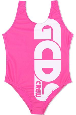 Gcds Kids Logo-print low-back swimsuit