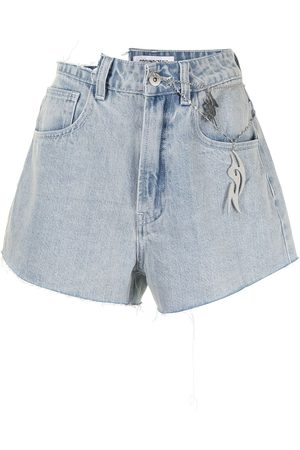 Ground Zero High-rise distressed denim shorts