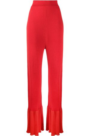 Stella McCartney Rib-knit long-length trousers