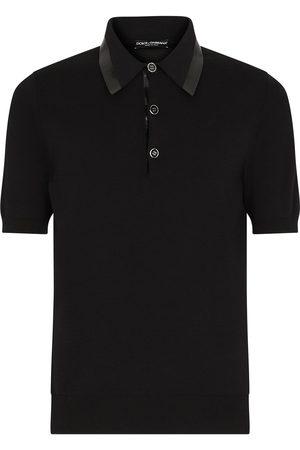 Dolce & Gabbana Herren Poloshirts - Logo-tape short-sleeve polo shirt