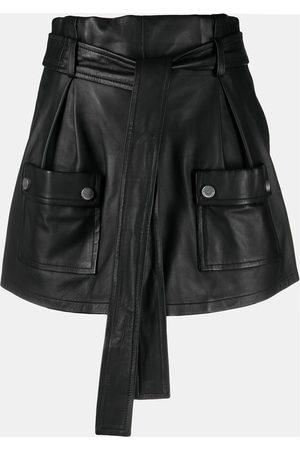 RED Valentino Tie-waist flap-pocket skort