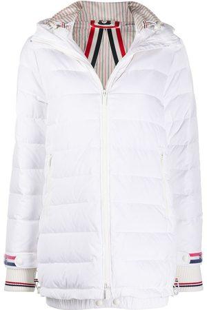 Thom Browne Zip-up hooded overcoat