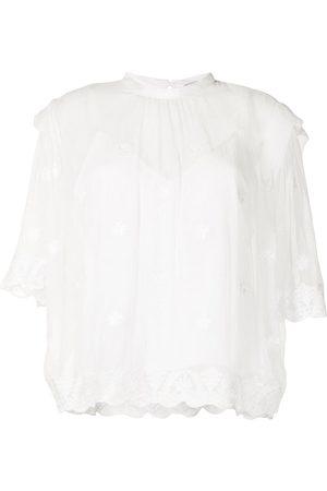 IRO Lace-layered blouse