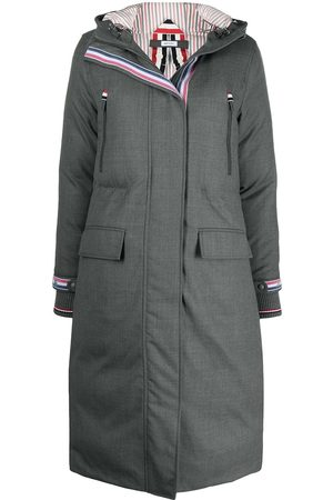 Thom Browne Down-filled A-line hooded parka