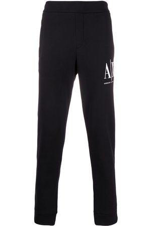 Armani Exchange Logo embroidered track pants