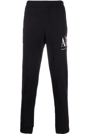 Armani Logo embroidered track pants