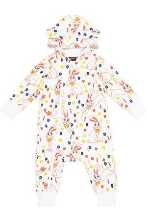 Mini Rodini Baby Strampler Mr Rabbit aus Baumwolle
