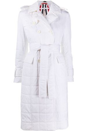 Thom Browne Damen Trenchcoats - Down-feather double-breasted trench coat