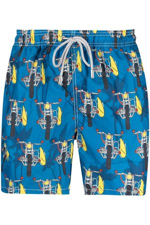 Mc2 Saint Barth Herren Badehosen - Surf Motorbike swim shorts