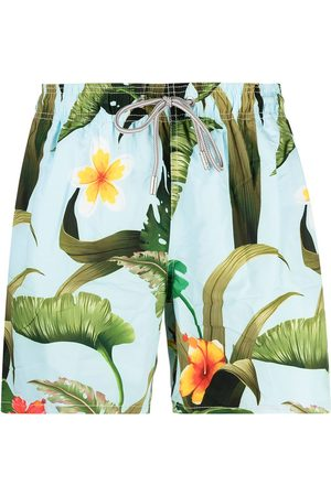 Mc2 Saint Barth Banana-Leaves swims shorts