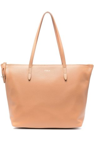Furla Leather zip-up tote bag