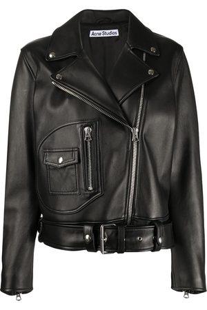 Acne Studios Damen Lederjacken - Leather biker jacket