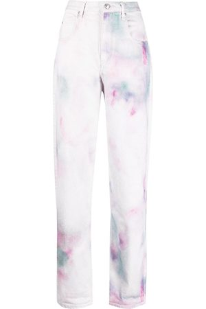 Isabel Marant Étoile Tie-dye print straight jeans
