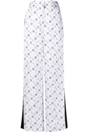 Karl Lagerfeld Damen Hosen & Jeans - Karl Tetris print tailored trousers