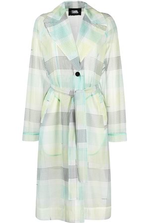 Karl Lagerfeld Checked organza trench coat