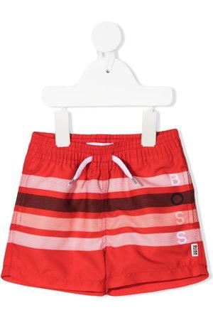 BOSS Kidswear Striped drawstring swim shorts