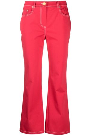 Moschino High-rise flared cotton jeans