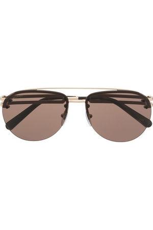 Bvlgari Herren Sonnenbrillen - Double-bridge aviator-frame sunglasses