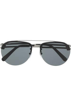 Bvlgari Double-bridge aviator-frame sunglasses