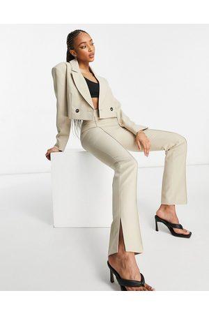 ASOS DESIGN Mansy suit skinny split side trouser in camel