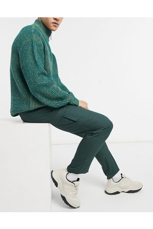 ASOS DESIGN Skinny cargo smart trouser in dark green