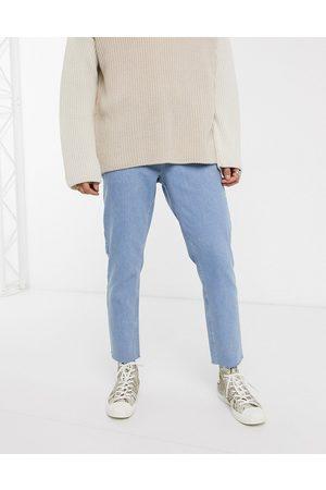 ASOS Classic rigid jeans in light wash with raw hem