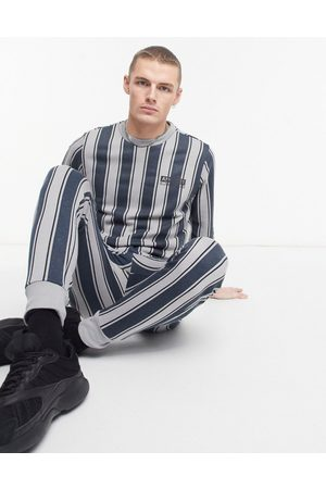 Another Influence Logo tracksuit in grey stripe
